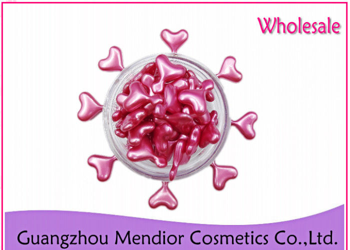 Moisturizing / Hydrating Night Face Serum Capsules Pink Heart Shape For Adult