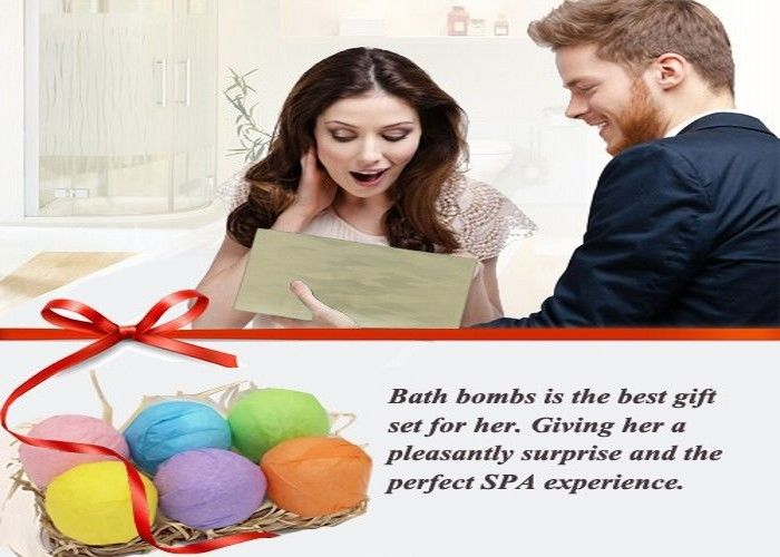 Organic Essential Oil Salt Body Bubble Bath Bombs Relieves Fatigue For Shower